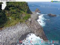 熱海・網代海岸の屏風岩