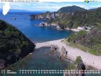 空から見た浮島海岸